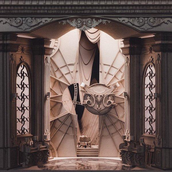 墨爾本學生手作《哈利波特》霍格華茲魔幻樓梯、消失的密室等8大創意紙雕建築3
